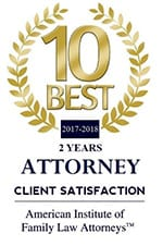 American Institute of Family Law Attorneys 10 Best Client Satisfaction